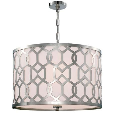 Trellis Drum Shade Chandelier - Large Available in 2 Colors: Antique Brass…