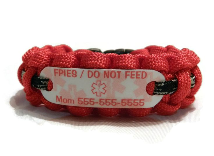 $16 FPIES Medical Alert Bracelet / Food Protein-Induced Enterocolitis Syndrome