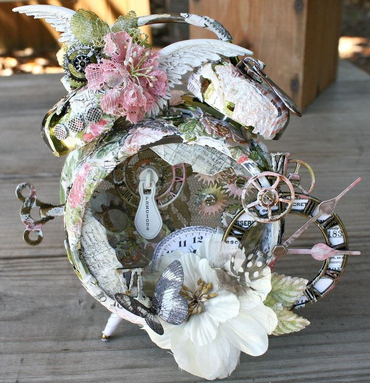 Prima Lyric Assemblage Mixed Media Clock - Scrapbook.com by Miranda Edney