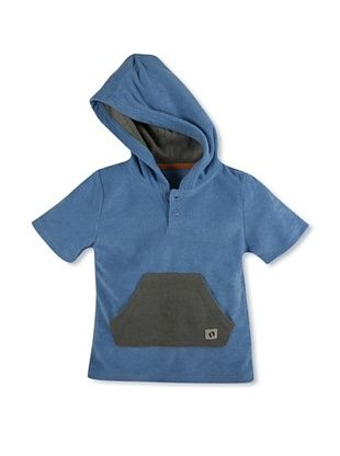 44% OFF Hang Ten Gold Boy's Terry-Towel Chillax Henley (Blue/Grey)