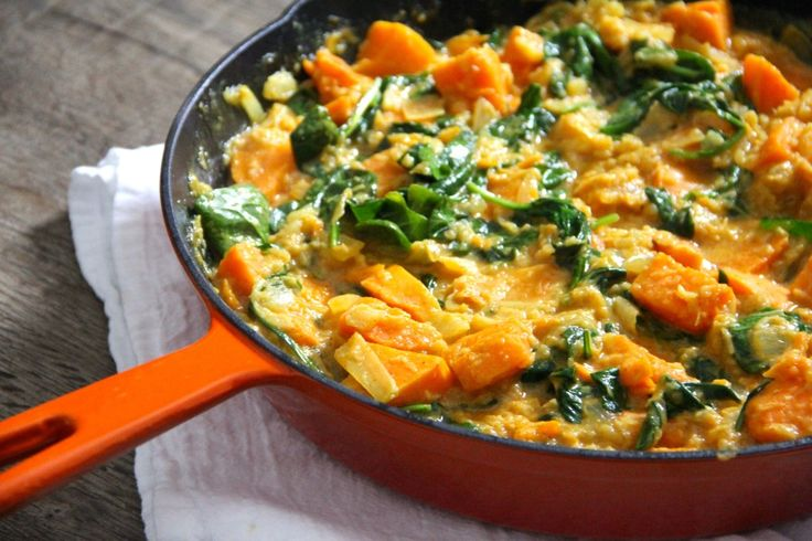 This spicy-sweet sweet potato and pineapple curry is vegan, simple to make and will warm you from the inside out.