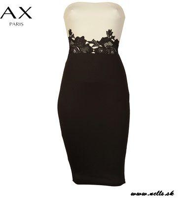 Dámske oblečenie | Dámske šaty | AX Paris Strapless Contrast Waist Dámske šaty krémovo-čierne | www.nells.sk - Parfumy, kozmetika a oblečenie svetových značiek.