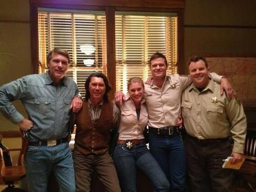 Cast of A&E's Longmire. Check out the cast at this year's Longmire Days in Buffalo in July.