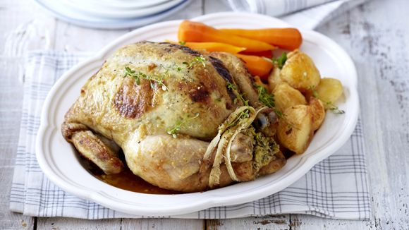 Sweet Baby Marrow Stuffed Chicken