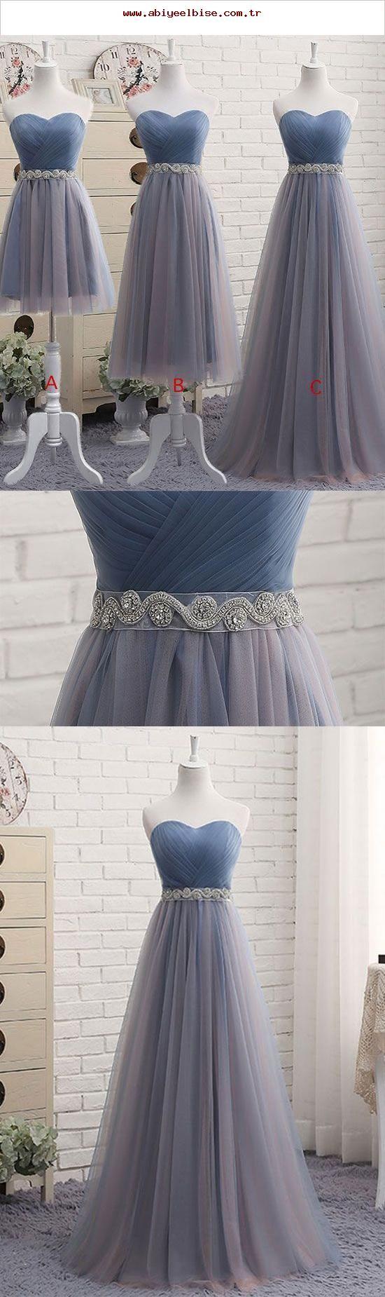 Langes und kurzes Abendkleid, Brautjungfernkleider, Abschlussfeier …