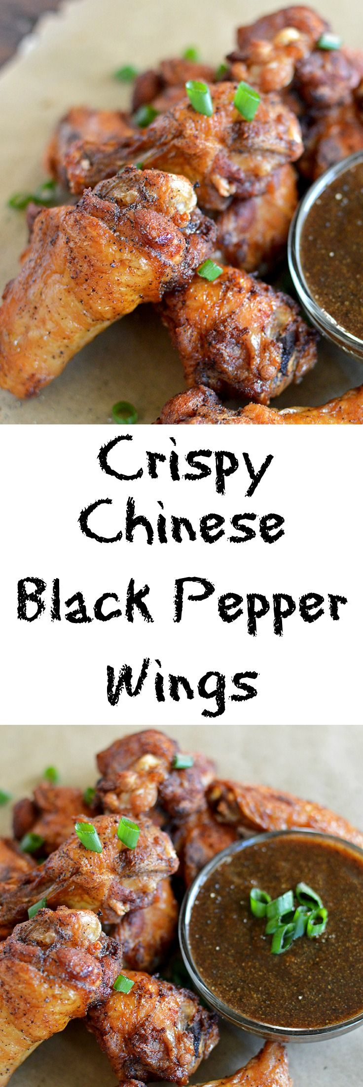 Crispy Chinese Black Peppered Wings…..  A spin on the classic Chinese black peppered chicken dish.