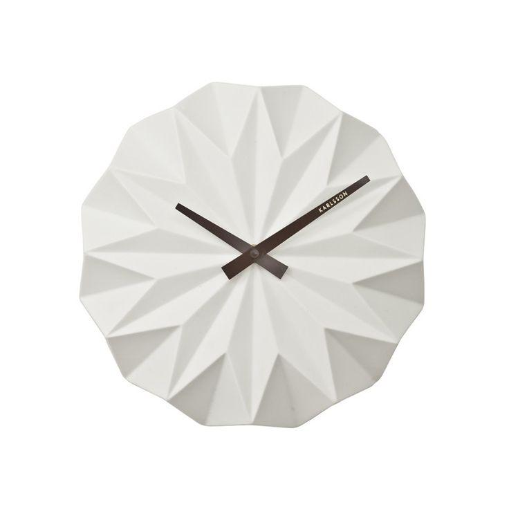 45.00 Horloge Karlsson design Origami Ceramique
