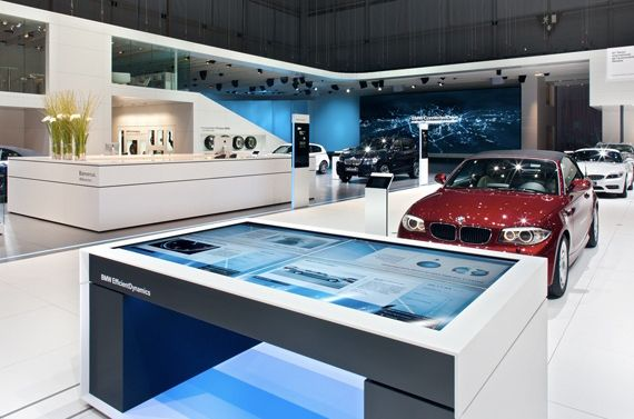 BMW Showroom Interactive Tables
