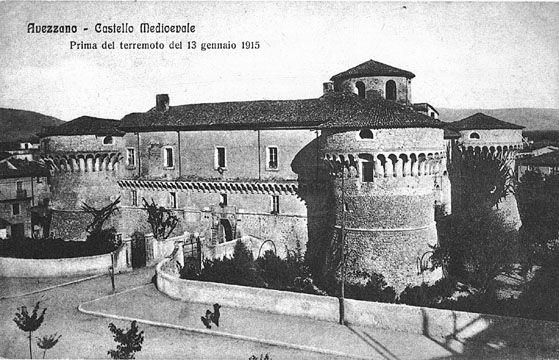 Avezzano: Castello Orsini prima del terremoto del 1915.