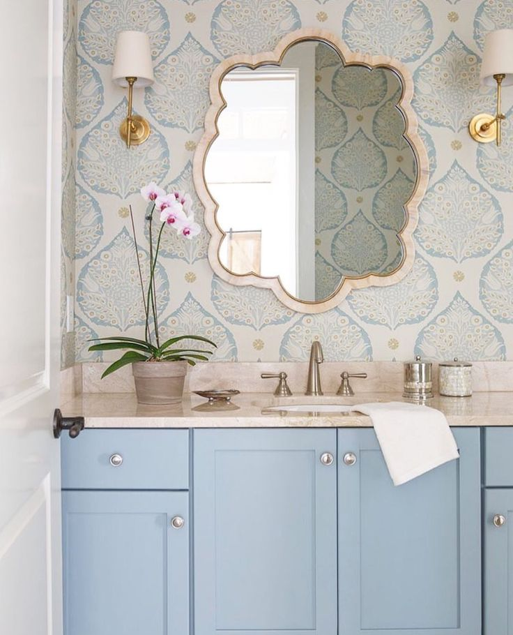 25 best ideas about blue vanity on pinterest blue for Powder blue bathroom ideas
