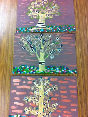 Drip, Drip, Splatter Splash: Gustav Klimt Projects for multiple grade levels