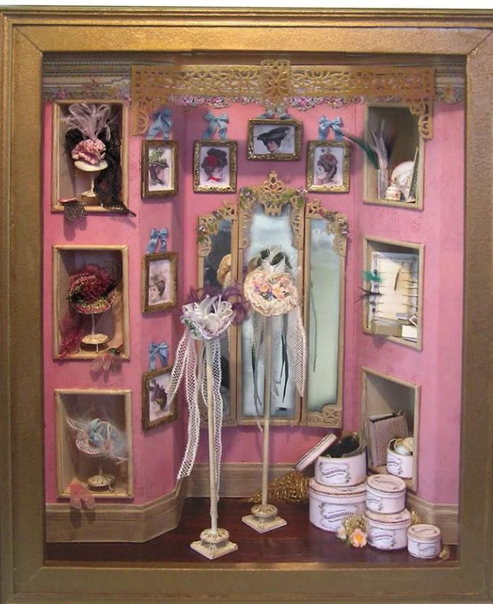 97e1dcb889d Millinery Shop - Cat & Co | Interesting Things Small | Miniature dolls,  Dollhouse miniatures, Dollhouse furniture