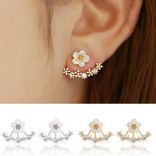 hot sale fashion cute flower stud earring set in bulk