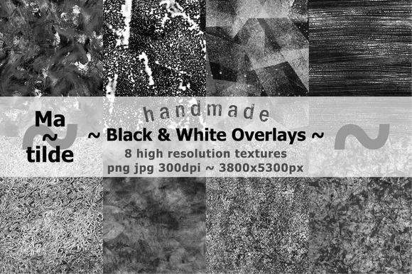 Handmade Black & White Overlays by Matilde on Creative Market