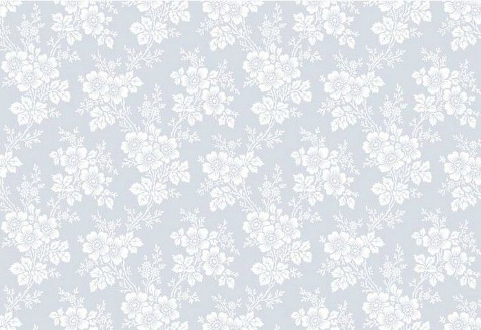 טפטים - זרי פרחים תכלת