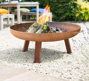 Large Industrial Style Steel Firepit - summer garden                                                                                                                                                                                 More