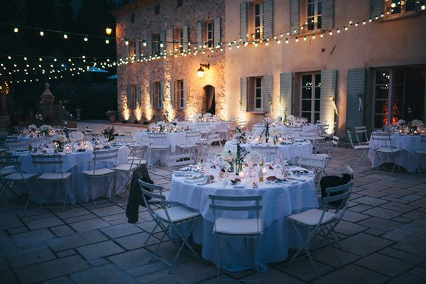 Beautiful outside wedding venue in South of France