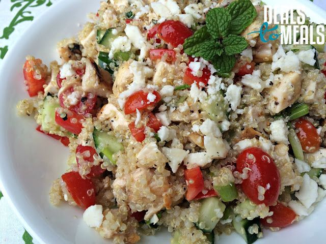 Greek Quinoa & Chicken Salad with Sweet Lemon Dressing--a ...