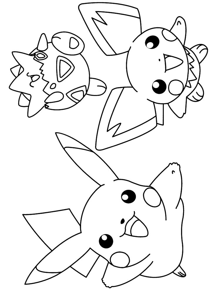 pokemon coloring pages 04 Activity , Worksheets