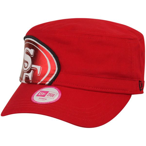 San Francisco 49ers New Era Women's Women's Jumbo Gloss Military Adjustable Hat - Scarlet - $25.99
