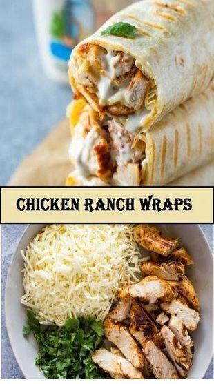 Perfekte Chicken Ranch Wraps Rezept | Emma Kitchen   – Chicken