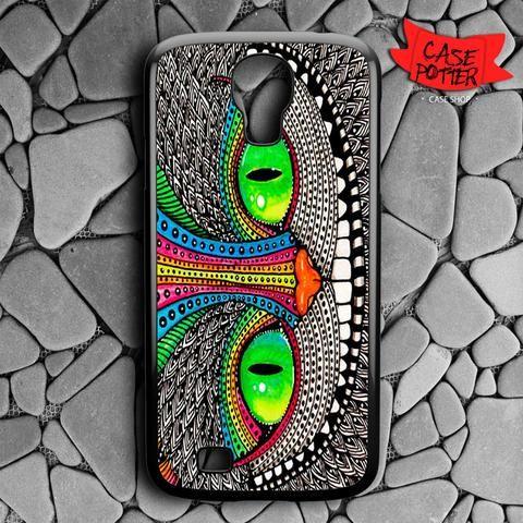 Cheshire Cat Pattern Samsung Galaxy S4 Black Case