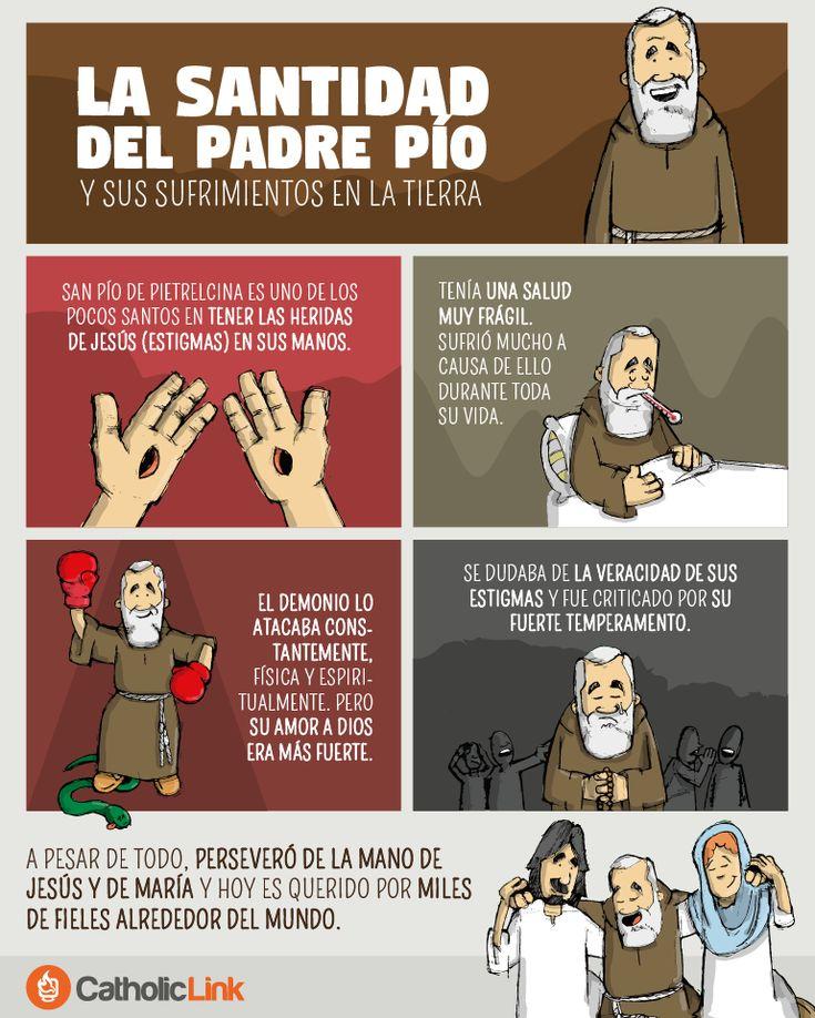 Infografía: La santidad del Padre Pío y sus sufrimientos en la tierra