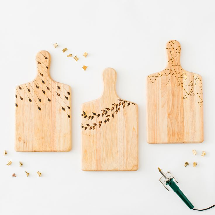 Personalize a wooden cheese board with this kit.