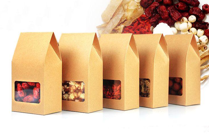 Encontrar Más Bolsas para Embalar Información acerca de 8 * 15.5 * 5 100 unids stand up bolsas de papel kraft marrón cajas reciclable para la boda / regalos / joyería / comida / cookies / dulces paquete caja de papel, alta calidad caja de aluminio, China bolso de la cremallera Proveedores, barato bolsa de unidad de Fashion MY life en Aliexpress.com