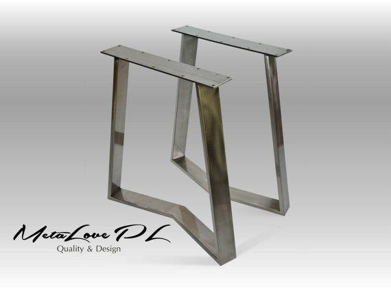 "28"" YAKO 80.20 Furniture Legs, Metal Table Base, Height 26"" - 32"" SET(2)"