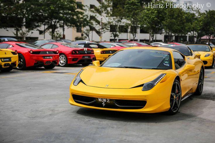 Ferrari Club meet at Road America, 2013