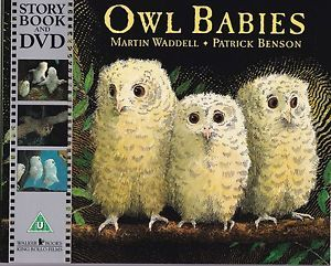 On a tree in the woods, three baby owls, Sara and Percy and Bill,.....
