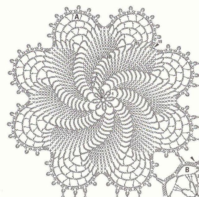 couvre-lit forme moulinet avec modules (2) - toutes-les-grilles.com grilles gratuites point de croix crochet tricot amigurumi