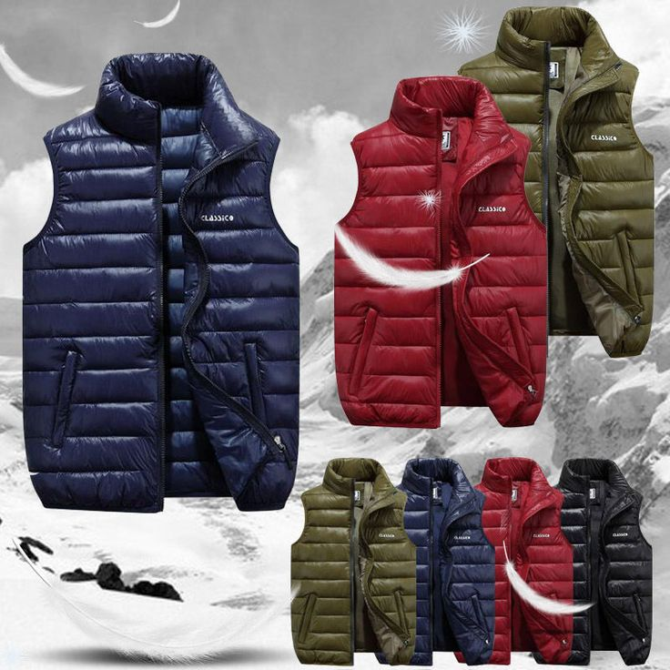 Hot Winter Men's New Casual Down Cotton Waistcoat Vest Fashion Jacket Outwear