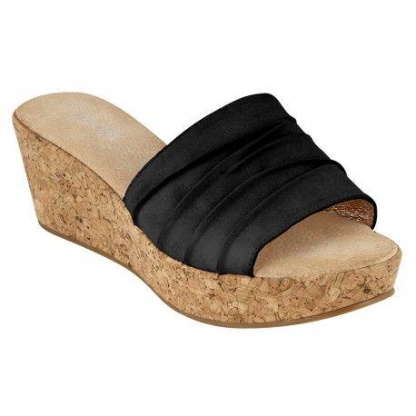 Γυναικείο τσόκαρο B-Soft-Μοντέλο 180-302 σε μαύρο και μπεζ χρώμα. Τιμή: 35 Ευρώ