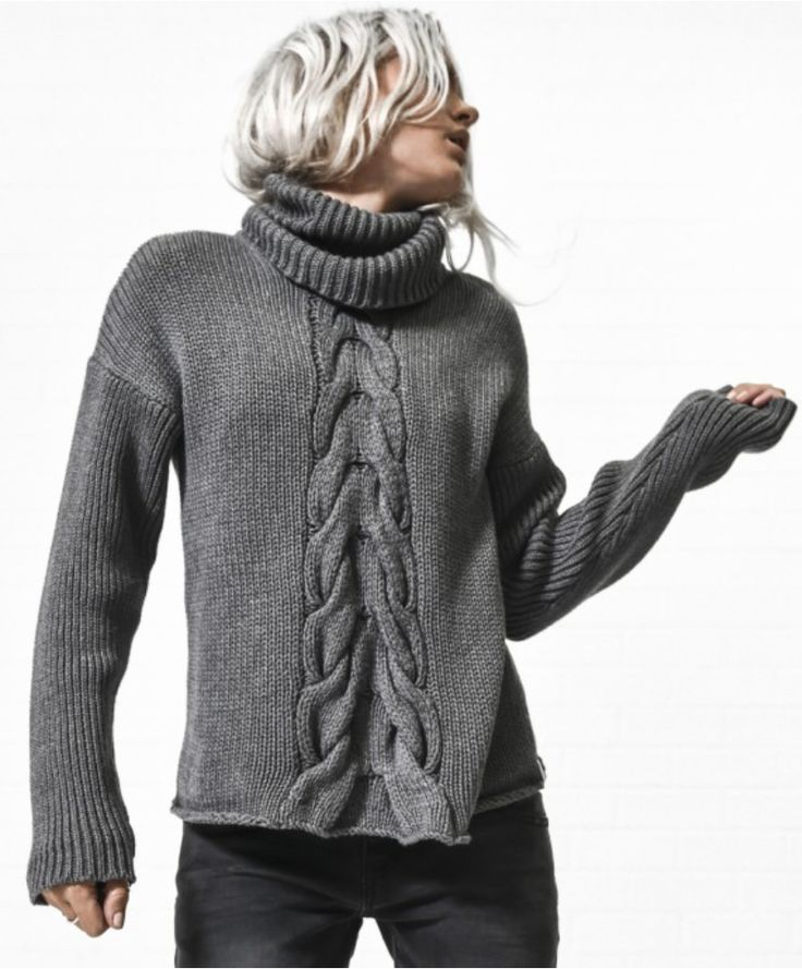 One Teaspoon - Love Society Roll Neck Sweater In Charcoal