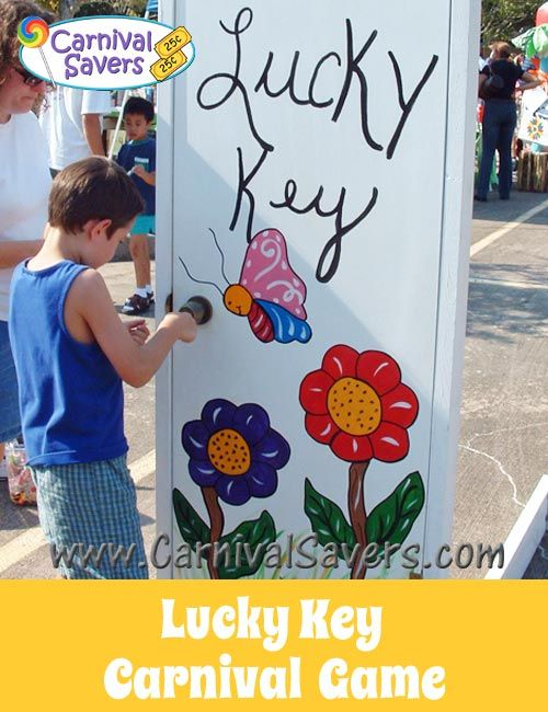 School Carnival Game - Lucky Key! A great DIY carnival game for big carnivals - schools, fundraising and more!