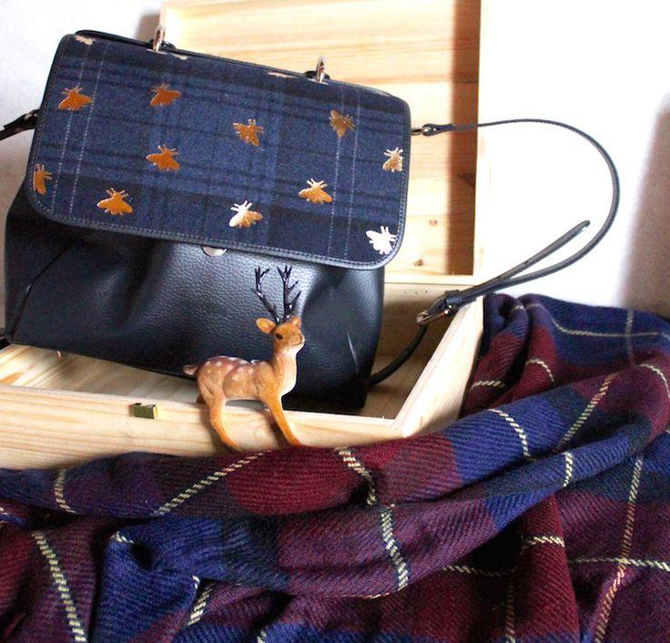Tartan details  #tartan #ootd #fashion #skirt #bags #vintage #winter  #fashionblogger #scarf #madeinitaly  #HOME #interior #deer #bee #style
