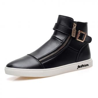 ZNPNXN-Altos Zapatos De Los Hombres-Negro