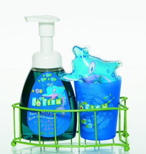 Upper Canada Soap & Candle Go Fish Caddy Set Dolphin Blueberry Burst | DolphinGifts.net