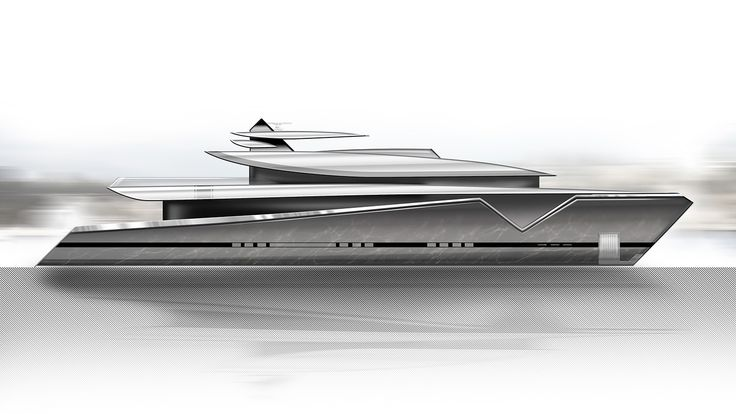 ThirtyC - Mako 50M #superyacht #yacht #design #yachtdesign #luxury #illustration #profile www.thirtyc.com