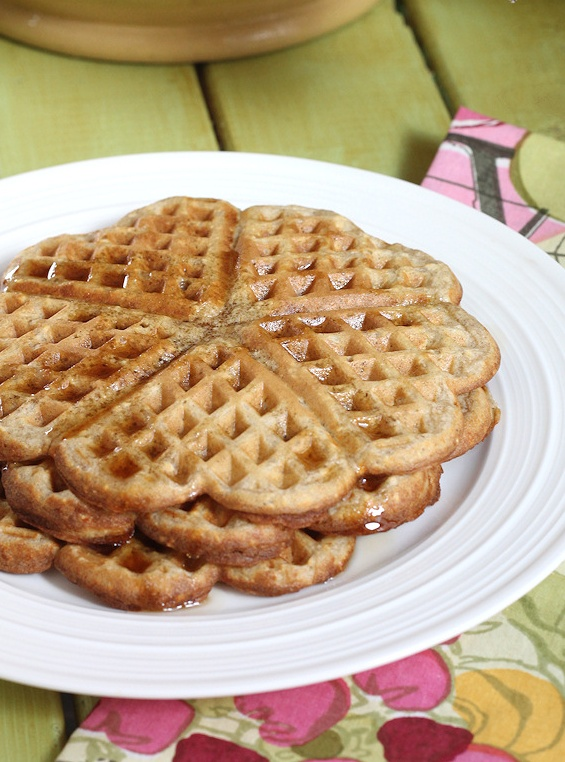 Cinnamon oatmeal waffles. Mom I need a waffle maker for my birthday! I'll just keep it in my room, K?