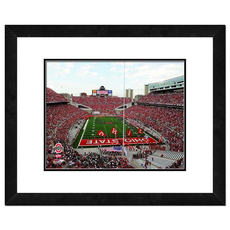 Ohio State Buckeyes Ohio Stadium Framed Wall Art, Multicolor