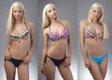 Igazán szexi, push up-os bikini, nyakbakötős felső résszel, 3 különböző színben és méretben