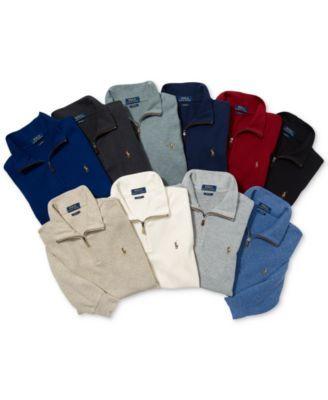 Polo Ralph Lauren Men's Estate-Rib Mock-Neck Pullover, Created for Macy's - Berkley Taupe Heather XXL