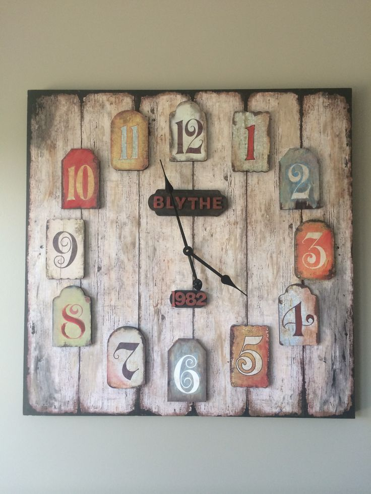 Homemade clock