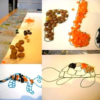 Lentil Pictures & Collages - Things to Make and Do, Crafts and ...