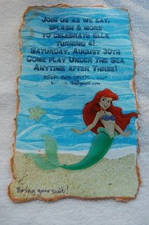 balenciaga menswear little mermaid party invite in a bottle  Addyson birthday