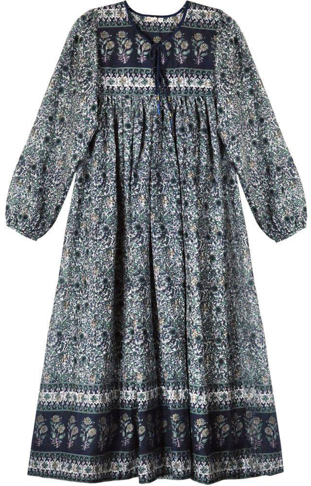 Blue Blue Floral Indian Dress