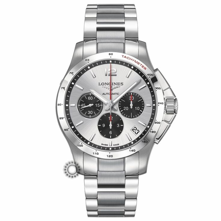 L36974066 Ανδρικό αυτόματο ρολόι LONGINES Conquest με χρονογράφο, μπρασελέ, ασπρόμαυρο καντράν, ημερομηνία & ταχύμετρο | Ρολόγια LONGINES Χαλάνδρι #conquest #chronograph #longines #ρολόι